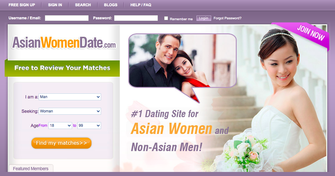 AsianWomenDate main page
