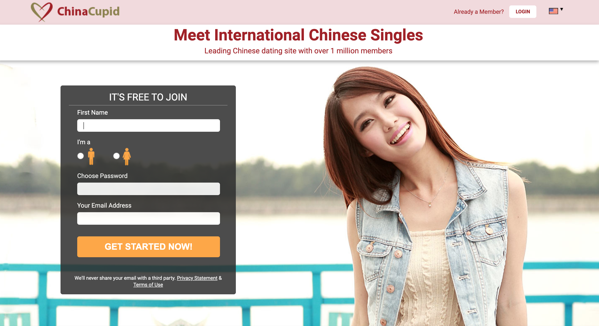 ChinaCupid main page