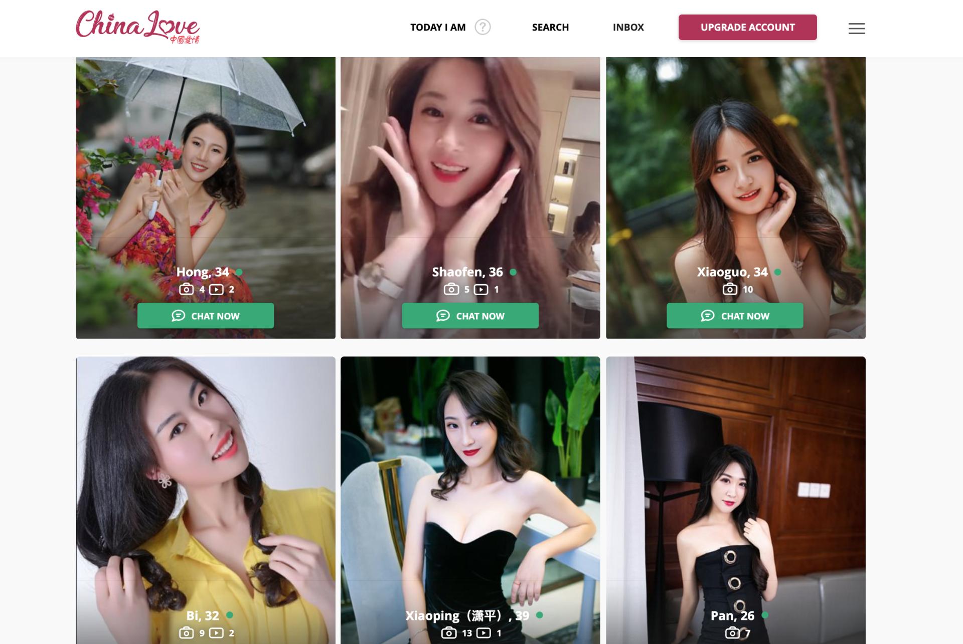 ChinaLove girls profiles