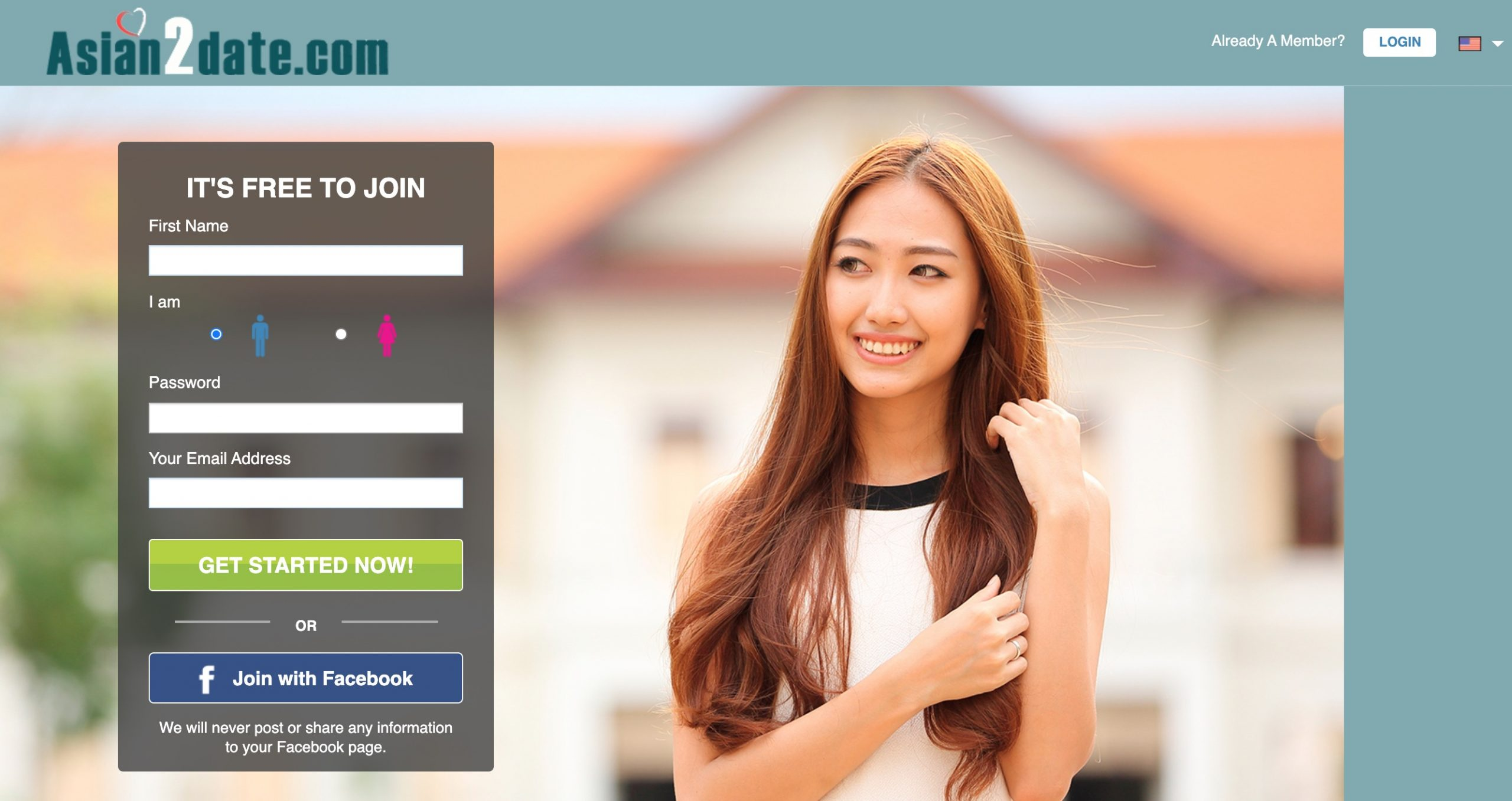Asian2Date main page