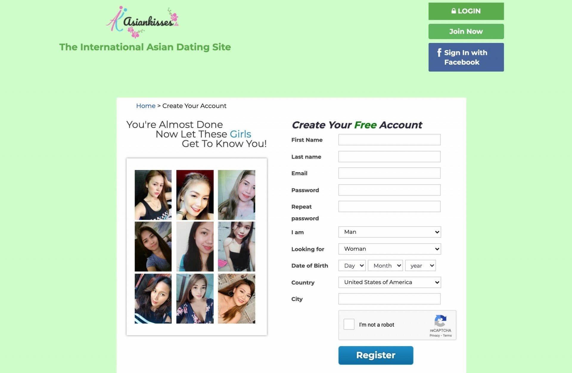 AsianKisses create account