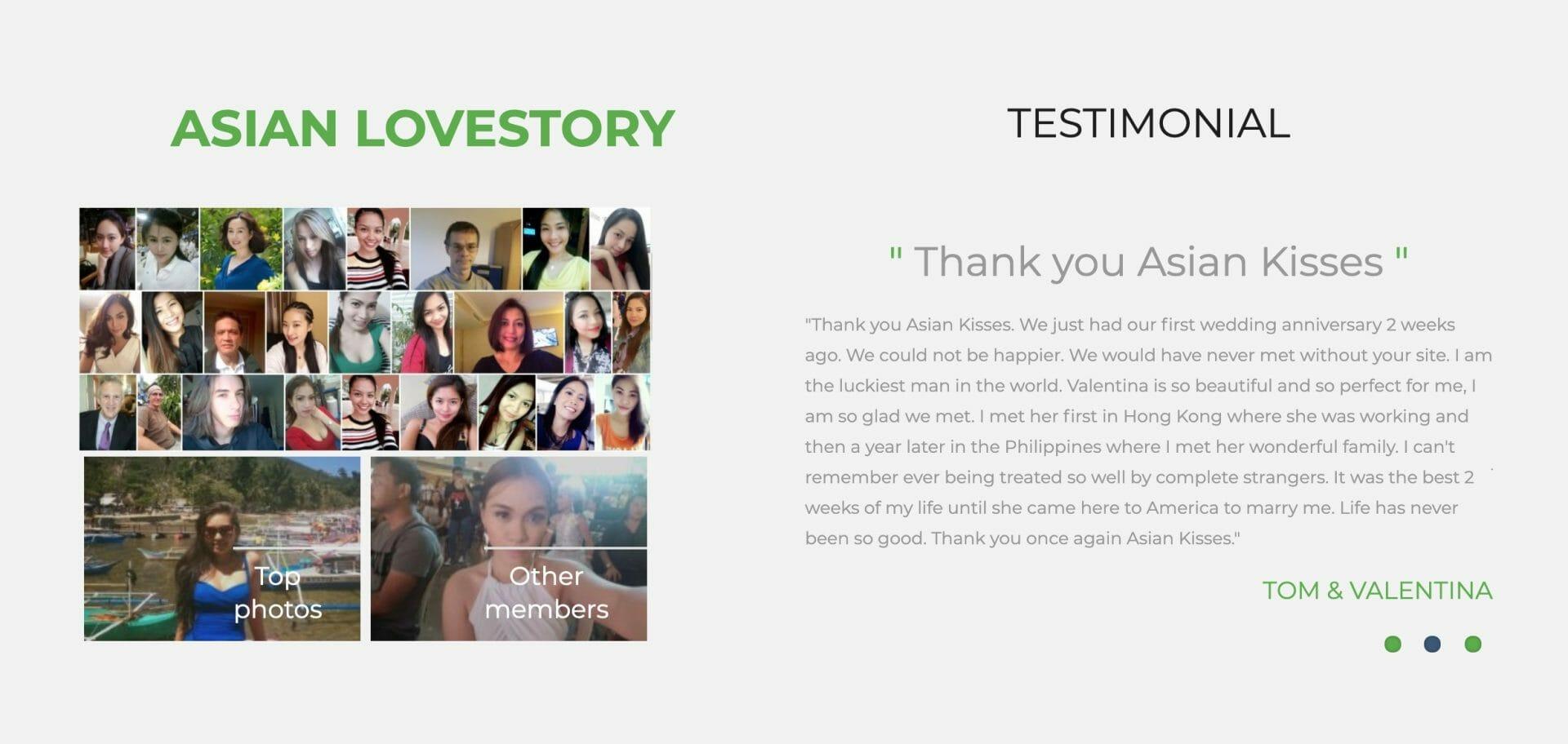AsianKisses testimonial