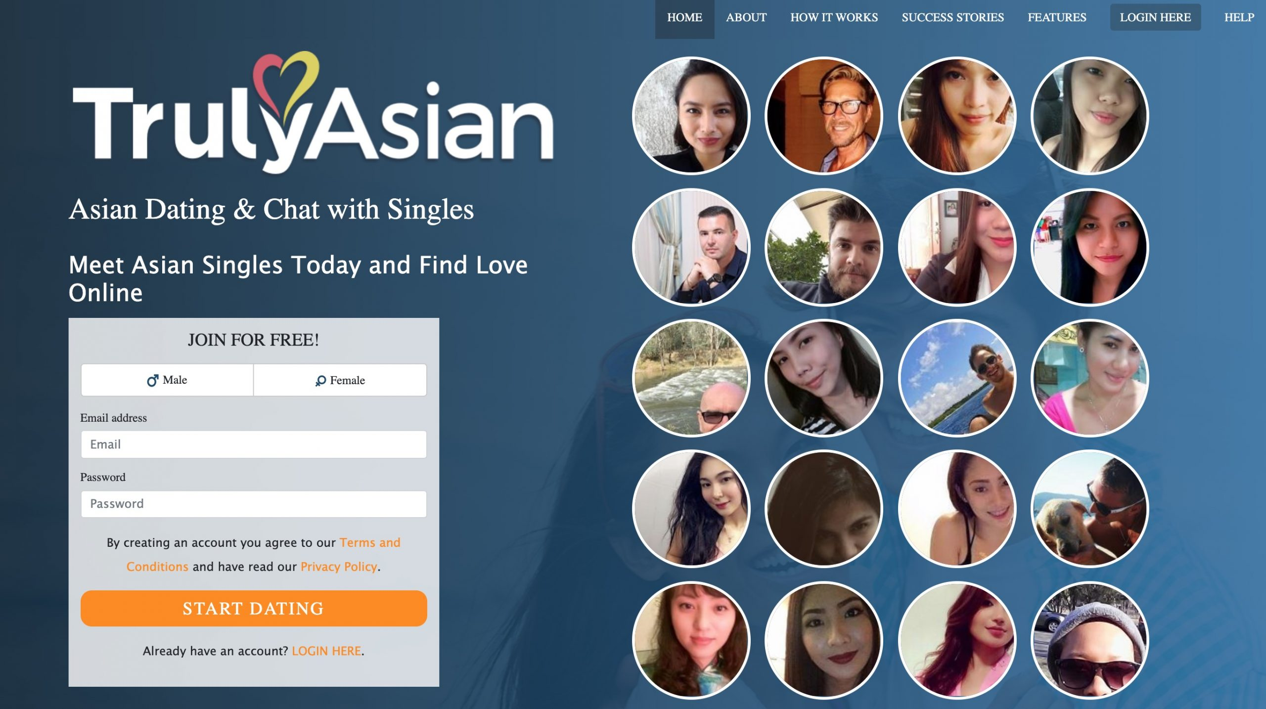 TrulyAsian main page