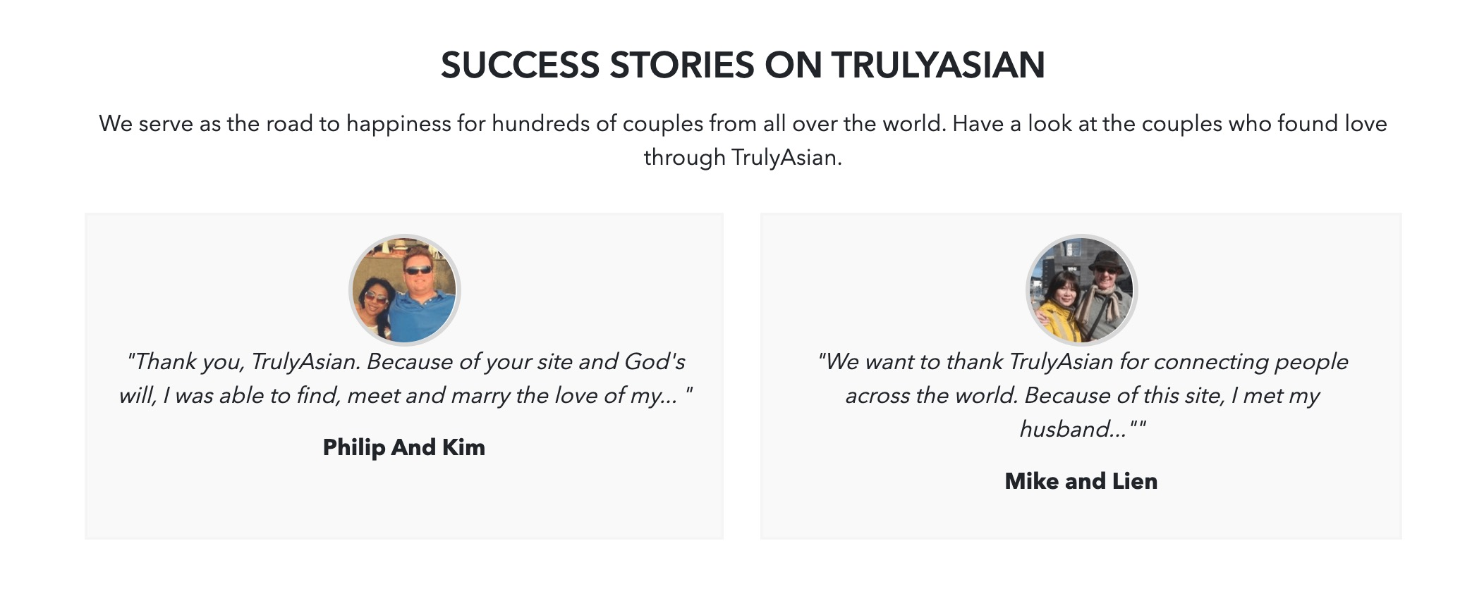 TrulyAsian success stories