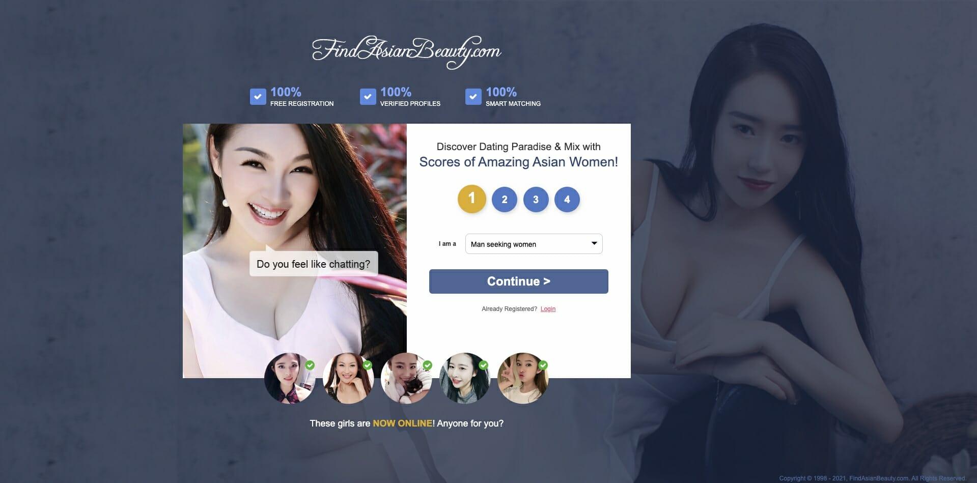 Asian dating site login in
